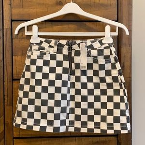 NWT Urban Outfitters BDG checkered skirt XS